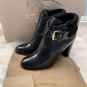 Authentic Burberry 110mm Ankle Booties size 38.5